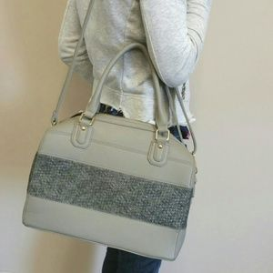 Gray Two Tone Satchel *Pink Haley*